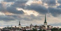 Panorama over old town of Tallinn in Estonia