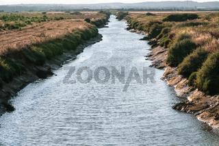 Ribeira de Quarteira river near beach of vilamoura