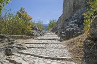 Ascent to the chateau de Tourbilion in Sion