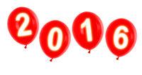 year 2016 balloons