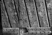 Wooden door of the Vigevano castle