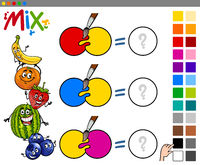 mix colors educational game