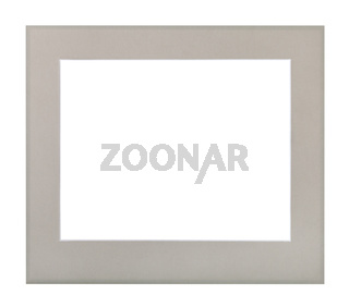 wide flat gray passe-partout for picture frame