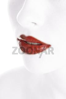 red gloss lips
