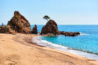 Mar Menuda Beach in Tossa de Mar. Costa Brava, Spain