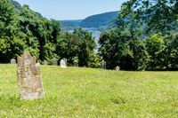 Old moss covered gravestones at Harpers Ferry