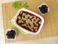 Homemade blackberry crumble
