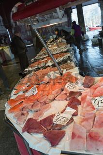 Seafood at the fish market