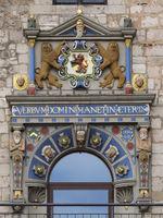 Brunswick - Renaissance portal on the Gewandhaus