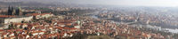 Panorama of Prague city