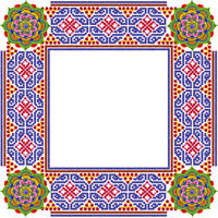 Square simple mandalas  photo frame