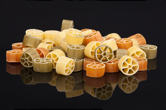 colorful pasta rings