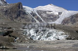 Pasterze-Gletscher mit dem Johannisberg, Kärnten, Österreich, Europa
