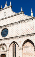 facade of in Duomo Cathedral in Vicenza