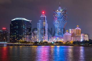 Macau cityscape Night