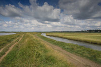 Waterways meandering through the flat Suffolk countryside