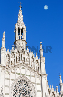 The only Gothic church in Rome, Italy.