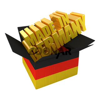 Made in Germany. 3d concept illustration isolated on white
