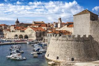 View Across Dubrovnik Harbour Croatia