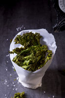 Vegan kale chips with sea salt