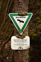 natural landmark; information board