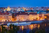 Evening view of Prague