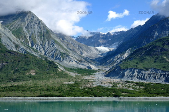Mountains and Glacial Valley