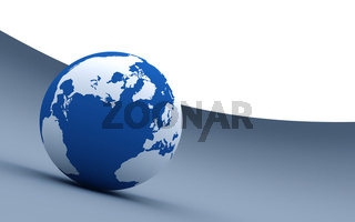 3d blue earth