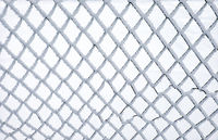 Metal net covered by hoarfrost