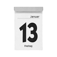 Calendar Friday 13th of january