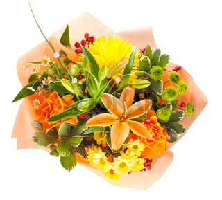 colorful bouquet of flowers