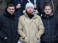 Klaus Gjasula,Fabian Franke and Hendrik Starostzik (all Hallescher FC)