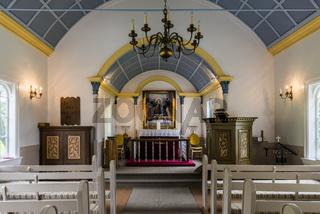Interior Hreppholakirkja Church