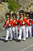 Grenadiers of Our Lord at the Corpus Christi procession, Blatten, Lötschental, Valais, Switzerland