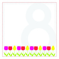 March 8. Greeting card for your design