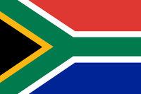 Fahne von Südafrika - Colored flag of South Africa