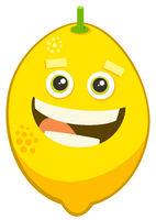 cartoon lemon fruit character
