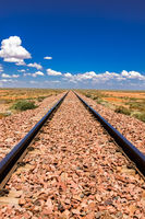 Never ending Railroad tracks, Nullarbor, South Australia
