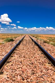 Never ending Railroad tracks, Nullarbor, South Australia