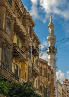The street of Alexandria, Egypt