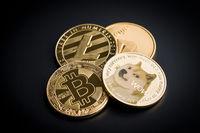 Dogecoin, litecoin, etheteum and bitcoin.