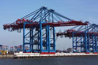 Containerbrücken am Containerterminal Burchardkai in Hamburg