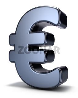 eurosymbol auf weißem hintergrund - 3d rendering