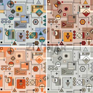 Mechanical pattern set