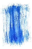 Blue brush stroke