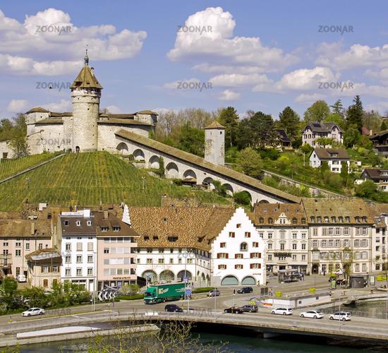 Schaffhausen with Fortress Munot,  Switzerland