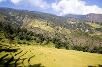 Mountain landscape on the Annapurna Circuit, Nepal