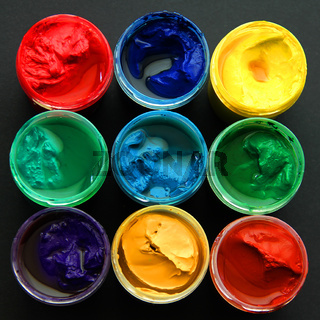 Gouache of different colors beautiful background