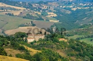 Umbrien Landschaft mit altem Haus - Umbria landscape and old building