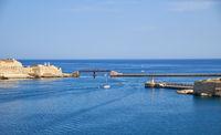 Entrance to the Grand Harbor. Valletta. Malta